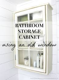 making bathroom cabinets: create a stylish and unique bathroom storage cabinet using an old window as the door