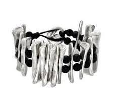 Silver and leather bracelet, by Spanish jewelery brand <b>Uno de 50</b> ...
