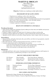 breakupus marvellous resume sample warehouse worker driver with fetching need a resume guide with archaic pharmacy intern resume also top resume formats in pharmacy intern resume
