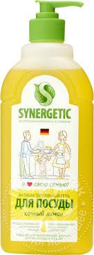 Купить <b>Средство</b> для <b>мытья</b> посуды <b>Synergetic</b> Лимон 500мл с ...