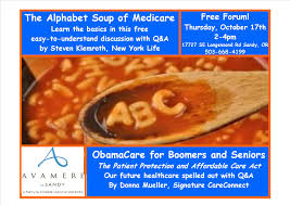 the alphabet soup of medicare avamere sandy sandy area chamber alphabet soup forum