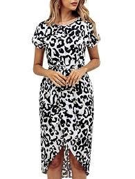 KIRUNDO Women's Summer Casual Dress Round ... - Amazon.com