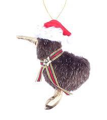 <b>Furry</b> Kiwi Bird <b>Santa</b> Christmas Decoration in NZ - ShopNZ.com