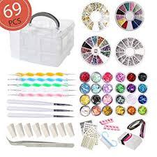 AIFAIFA 69PCS DIY <b>Nail Art Tools</b> Decoration <b>Manicure</b> Kit, Glitter ...