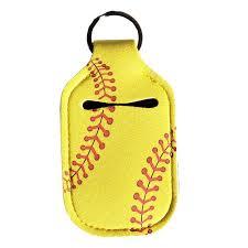Softball <b>Face Mask</b> & Hand Sanitizer <b>Holder Set</b> – Stellar White ...