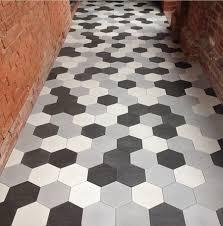 Hexagon Tile Floor Patterns Installing Hexagon Floor Tile John Robinson House Decor