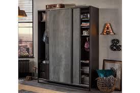 Купить <b>Шкаф</b>-<b>купе</b> 2-дверный <b>Dark Metal</b> с доставкой по выгодной ...