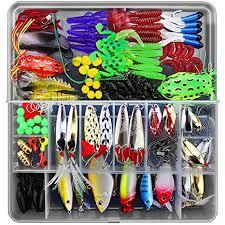 CHSEEO <b>Fishing Lure Kits 141pcs</b> Fishing Lure Set Fishing Baits Kit...