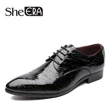 2018 Man Flat Classic Men Dress Shoes Leather Embossed Carved ...