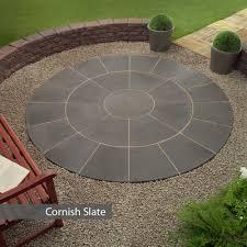 patio slab sets: oxford circle patio paving kit m