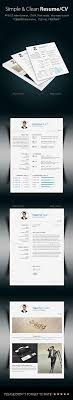 best ideas about cv template cv simple clean resume templates here