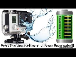 Power and <b>Charge</b> GoPro Underwater For <b>Waterproof</b> 24hr Battery ...