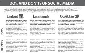 infographic do s and don ts of social media the collegian infographic do s and don ts of social media