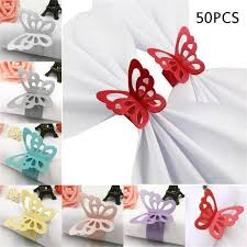 <b>50pcs</b>/<b>lot</b> Butterfly <b>Napkin Rings</b> Weddings Party Banquet Serviette ...