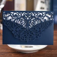 <b>Navy Blue</b> lace cut unique wedding cards&Invitations,210G paper ...