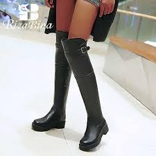 <b>RIZABINA</b> Plus <b>Size</b> 34 43 2020 New <b>Women</b> Flats Boots Over Knee ...