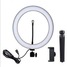 10.23 Inch Adjustable LED Beauty Ring <b>Light</b> with Tripod, <b>2-in-1 Fill</b> ...