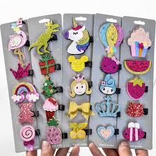 <b>5PCS</b>/<b>Pack Fashion</b> Cute Hairpins Barrettes <b>Cartoon Crown</b> Bow ...