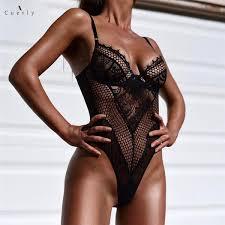 2019 Lace Bodysuit Women <b>Hollow Out Sexy</b> Bodysuit Fashion ...