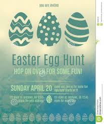 invitation flyer info easter egg hunt invitation flyer stock vector image 38899036