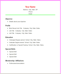 basic resume format examples  sample basic resume format  simple    simple basic resume template