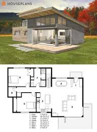 ideas about Small Modern House Plans on Pinterest   Small    Small Modern cabin house plan by FreeGreen