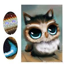 Diy diamond painting <b>cross</b> stitch <b>animal</b> owl home decor 100