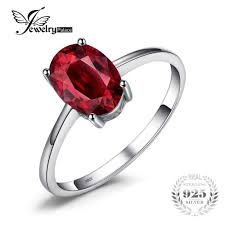 2019 <b>JewelryPalace 1.6ct Pure Red</b> Garnet Solitaire Ring For ...