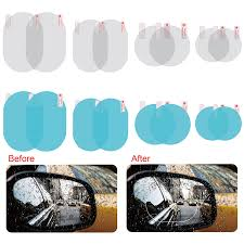 <b>2Pcs Car Rearview Mirror</b> Protective Film Anti Fog Window Clear ...