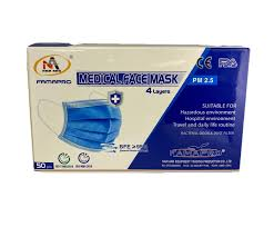 <b>4</b>-<b>Ply</b> Level 2 Disposable <b>Face Mask</b>, 95% BFE, 50/Pkg — Supply ...