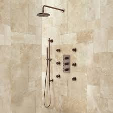 ideas shower systems pinterest: exira thermostatic shower system hand sprayer  body jets oil rubbed bronze