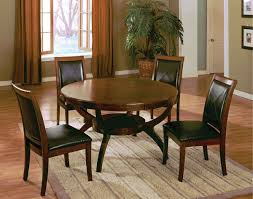 4 chair kitchen table: walnut wood round dining table w  chairs loading zoom