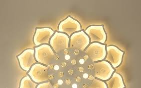 Led <b>Ceiling Lights For</b> Living Room bedroom with crystal <b>remote</b> ...