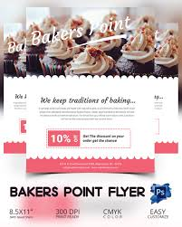 bake flyer template 24 psd indesign ai format bakers point flyer template