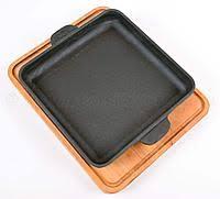 <b>Сковорода квадратная</b> 180х180х25 с <b>дощечкой</b> BRIZOLL чугун ...