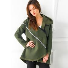 Shop S-5XL Women's loose hooded sweater women's autumn and ...