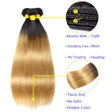 <b>SYK</b> Ombre Straight <b>Hair</b> Bundles Peruvian Pre Colored T1B/27 ...