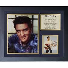 Legends Never Die <b>Elvis Presley Colour</b> Portrait Framed Memorabili ...