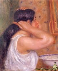 Resultado de imagen de mujer peinándose