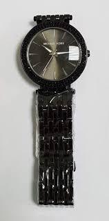 <b>Часы Michael Kors женские</b> металл черные со стразами аналог А ...