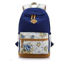 3pcs/set Women Backpacks <b>Floral Canvas Printing</b> Backpack ...
