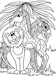 Small Picture Printable Jungle Animal Coloring Pages Coloring Coloring Pages