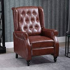 Retro Living Room Recliner Chair Brown PU Leather ... - Amazon.com