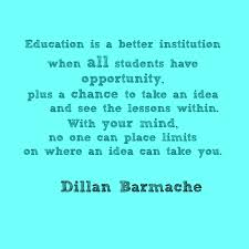 the importance of educational opportunities for all students education is a better institution when all students have opportunity plus a chance to
