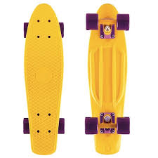 <b>Скейт Y-Scoo Fishskateboard 22</b> Yellow-Dark Purple 401-Y | www ...