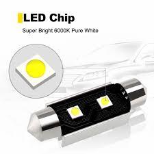 <b>2Pcs C5W LED</b> Canbus Bulbs 31mm 36mm 39mm 41mm Festoon ...