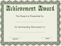 award certificate template samples thogati award certificate template samples unique template example of achievement award green font