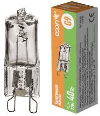<b>Лампа галогенная</b> Econ HL <b>G9</b> 40Вт <b>220V</b> - купить в Санкт ...