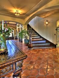 <b>Mediterranean</b> Staircase <b>with</b> flush light, Rustica Tile and Stone ...