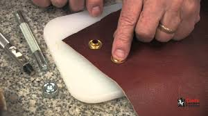Installing Eyelets And Grommets On Leather - YouTube